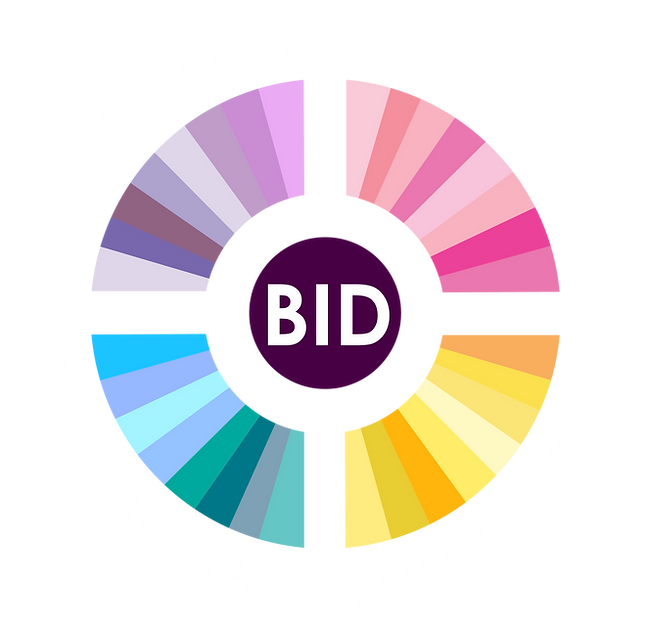 BID Logo White Text for Colored Backgrou