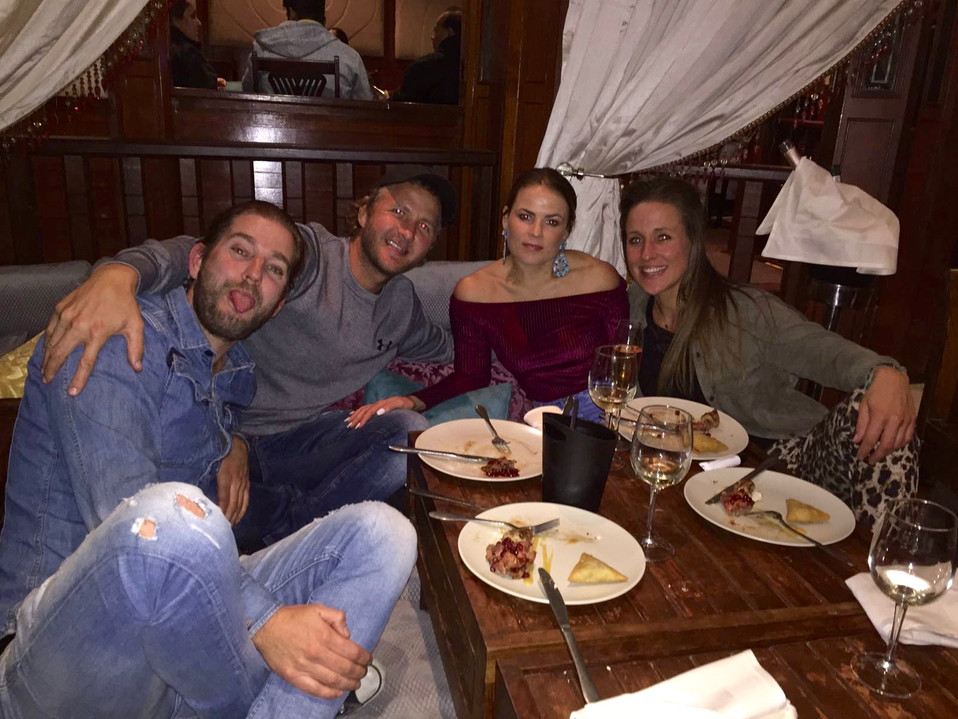 Having diner with our African friends. Thank you for giving us a night that we never forget!