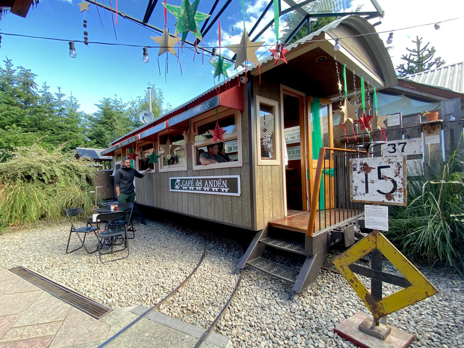 Our favourite coffeebar. Its build on a old tramshed.