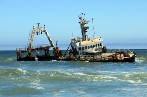 A wreck belong the coast.