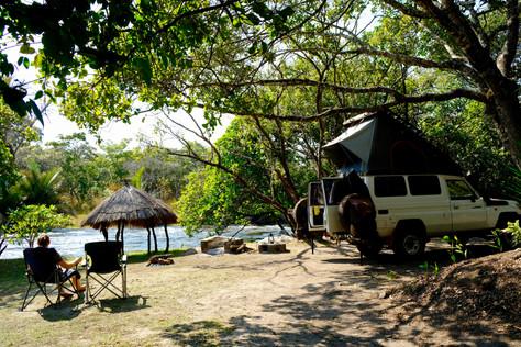 A beautiful campspot along the river.