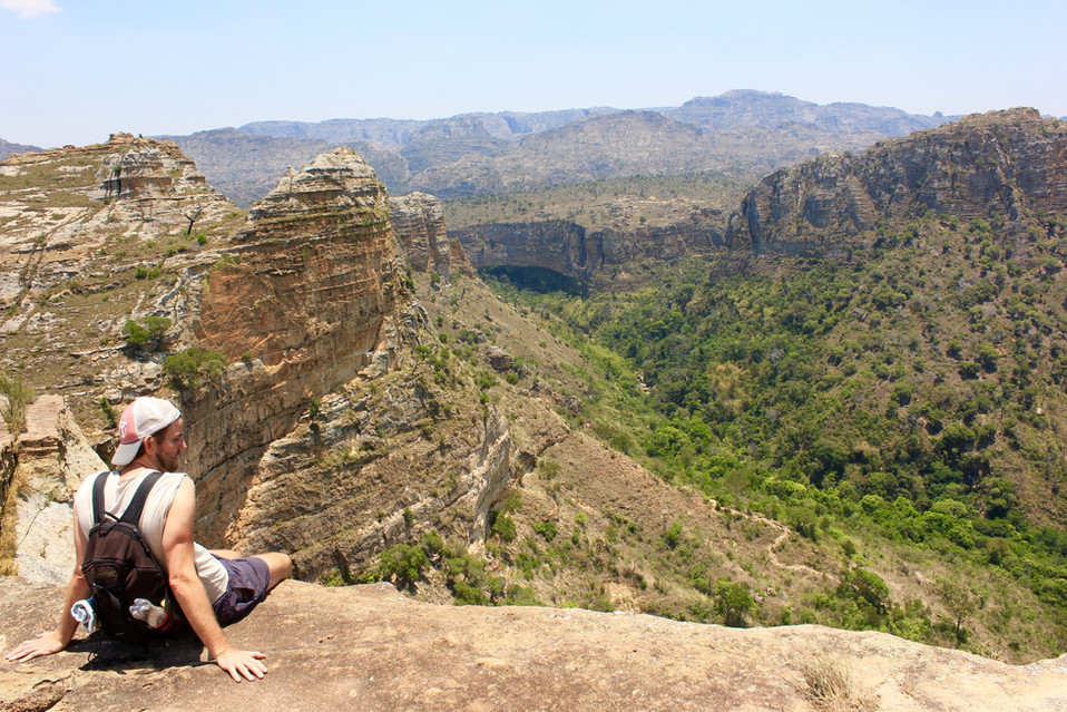 Isalo view point.