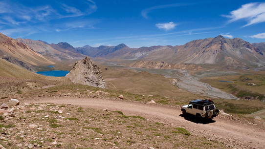 The offroad route to Valle del Laguna which takes me 1 hour.