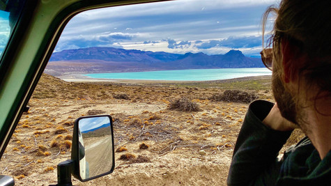 The lakes in South America they are so intens blue.