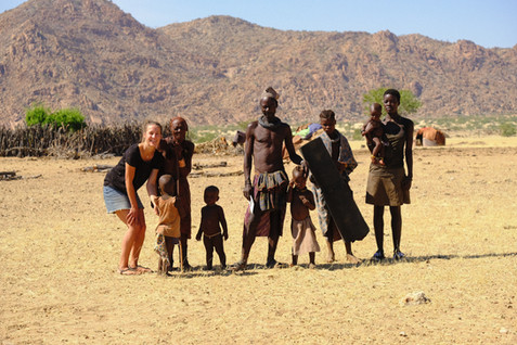 Himba family.
