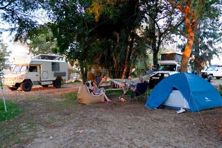 Fri-mi-bo at African Overlanders Campsite.