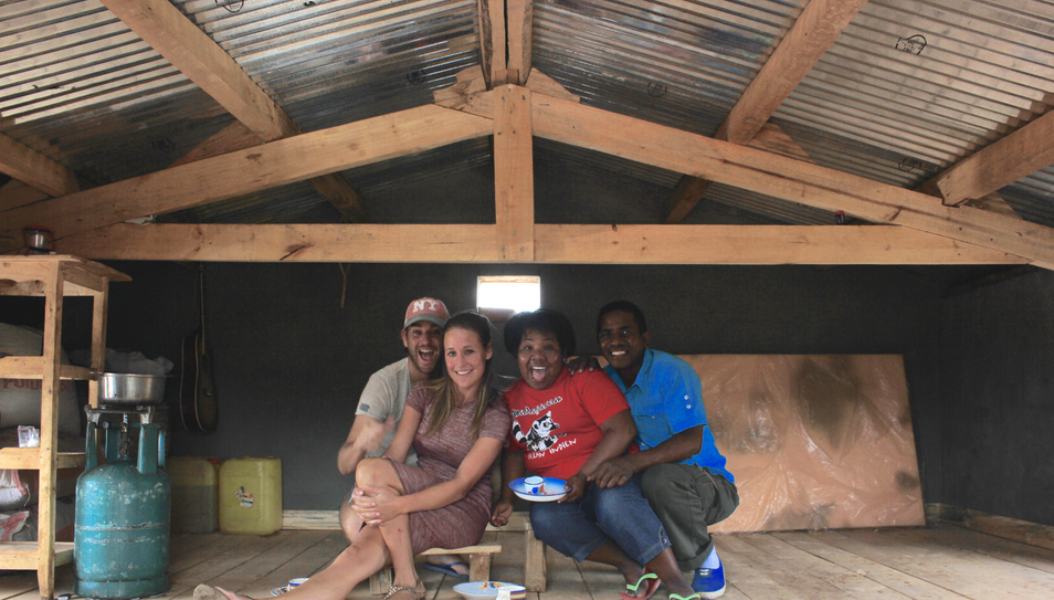 Meet the family and his self-built house.