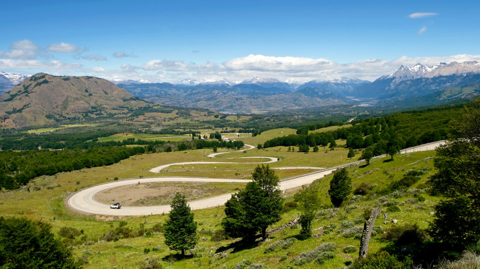 Driving the Carratera Astral on winding roads through this beautiful mountain range.