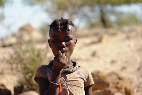 This hairstyle with this himba means she