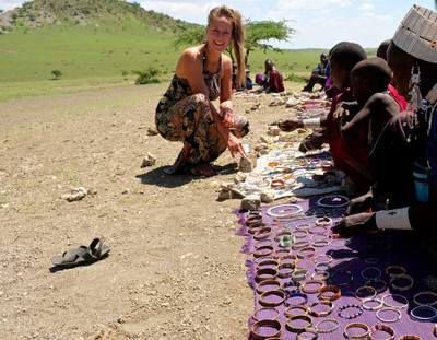 Small masai market where they sell some jewelry.