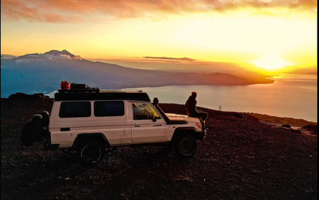 'The unexpected moments went memories that we never forget'. . We arrived at the Osorno Vulcano, locals told us that we camp there for a night and have a beautiful scenery. On our way it was raining, it's was cold and there were many clouds. We decide to set up our extra bed and watch a movie because we don't want to go outside and set up the tent when it was raining. . A hour later the clouds became a clear blue sky and the rain a beautiful sunset. . 3 hours later its become in this scenery. The locals were right.