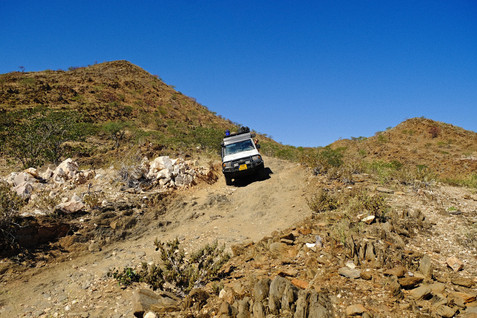 Some roads in Hartman valley are so steep and full with big rocks. It was a nice adventure.