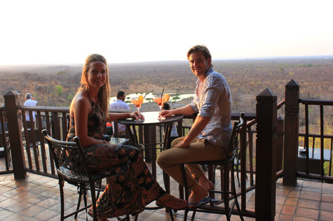 What an amazing view @ Victoria Falls