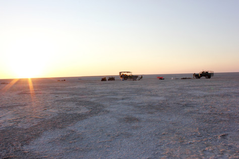 Our camp at the Ntwetwe Salt Pans. What an amazing expirience to sleep in a swap under the sky with hundreds stars.