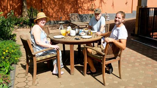 First breakfast in Tanzania!