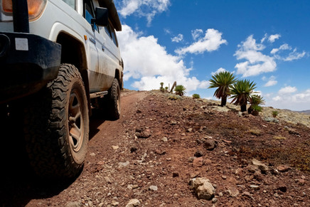Second highest point of Ethiopia, 4.377 meter high.