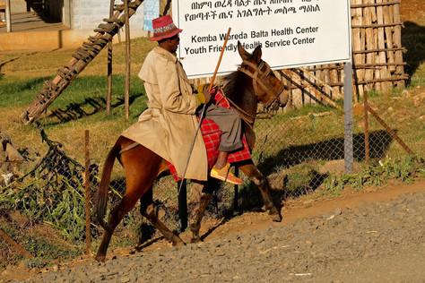 Dorze man on a horse.