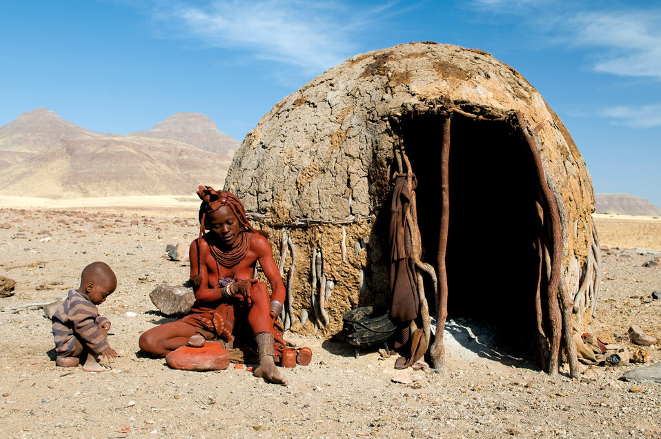 the spontaneous moments are always the best and you stay the longest. A visit to a himba village.