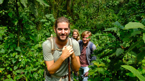 Loved trekking with friends to see the Gorillas.