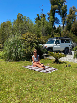 Lunch break after the hike of Vulcanp Chaiten