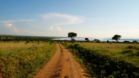 Beautiful view with Victoria Nile on the background.