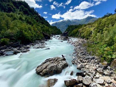 River at Mirador Ventisquero Colgante