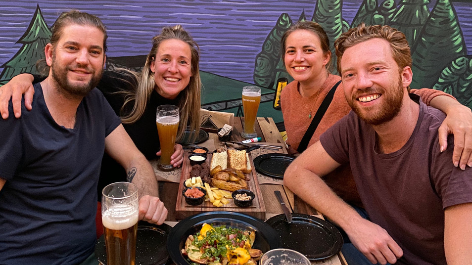 These lovely couple from Netherlands travel for 6 months in South America.