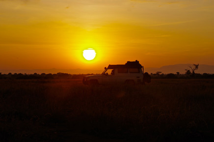 Sunrise in Queen Elizabeth National Park. Thanks S. Smit for making this beautiful picture.