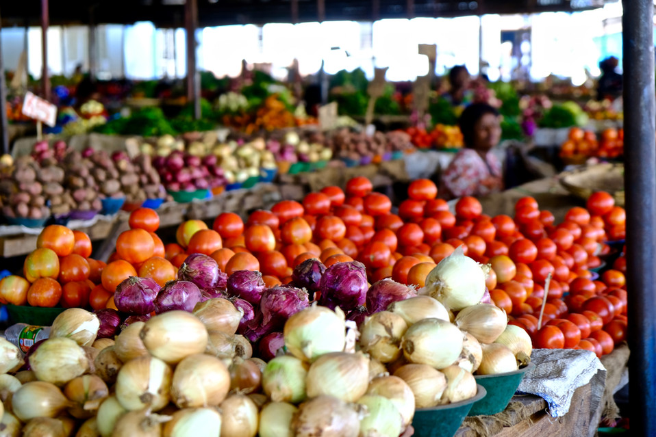 I love to visiting markets with a lot of variety of fruits and vegetables. # Healthy