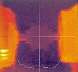 hizasızlığı giderilen şaftın termal görüntüsü