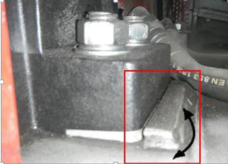 Fan yataklarının yanına kaynatılmış lamalar nedeniyle yatakların hareketi kısıtlanmıştır.