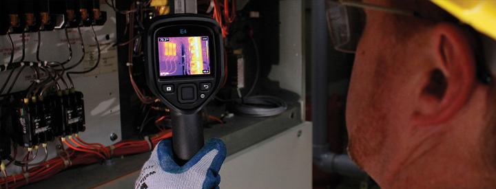 elektirik panasunda termal kamera uygulaması.
