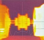 hizasız kaplinin oluşturduğu sıcaklığın termal kamra ile görüntüsü
