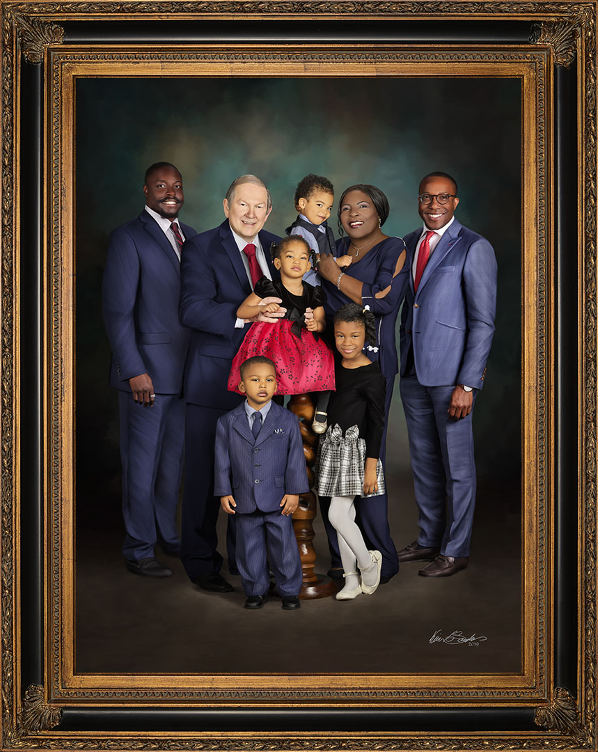 Blended Family Signature Portrait