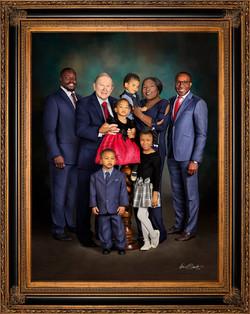 Blended Family Signature Portrait