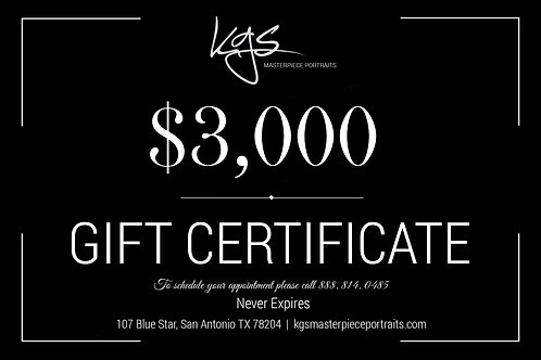 $3,000 Gift Certificate