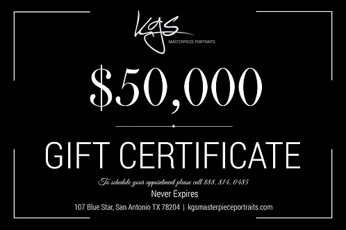 $50,000 Gift Certificate