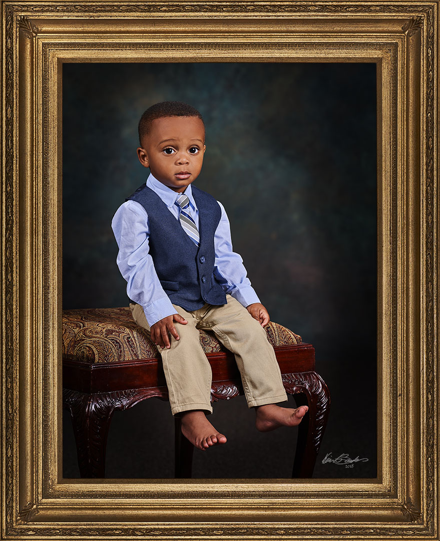 Young Boy Signature Portrait Framed
