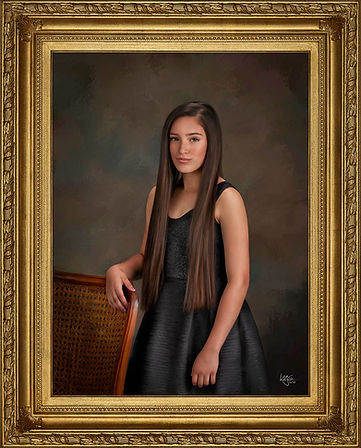Masterpiece finish at our Family Portrait Studio