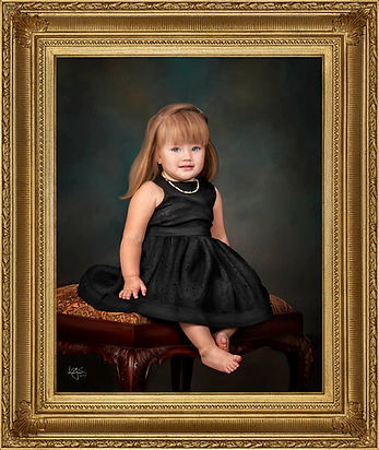 Child's Portrait with Custom Frame