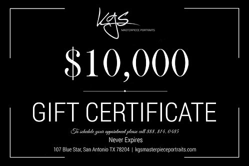 $10,000 Gift Certificate