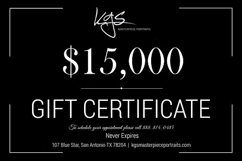 $15,000 Gift Certificate