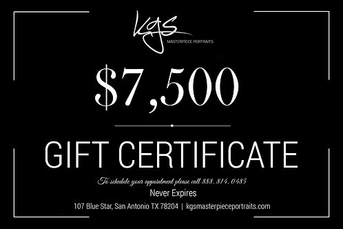 $7,500 Gift Certificate