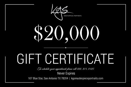 $20,000 Gift Certificate