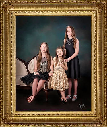 Young Lady's formal Family Portrait