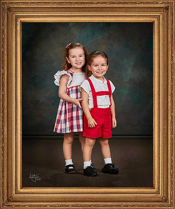 Heirloom Portrait with Custom Frame