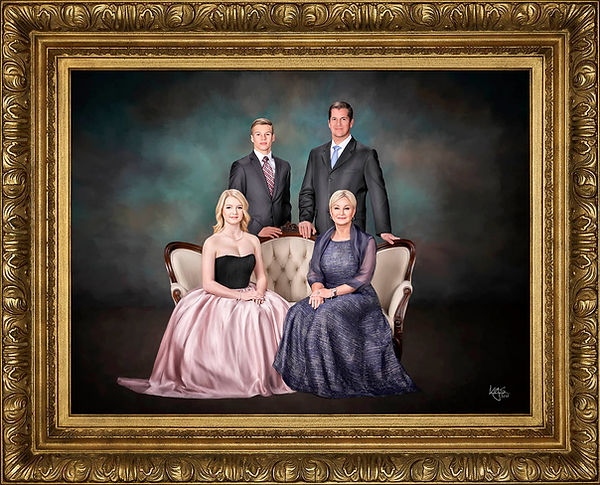 Painted Fine Art Family Portrait from KGS Masterpiece Portraits