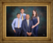 Family Portrait with Custom Frame