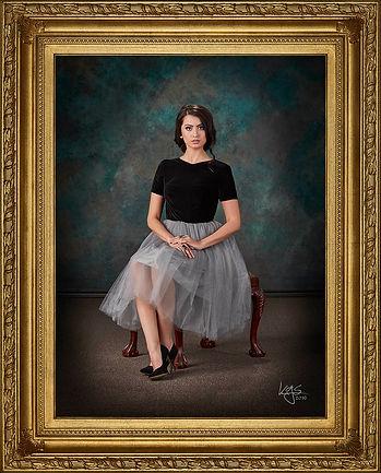 Heirloom Portrait with Custom Frame