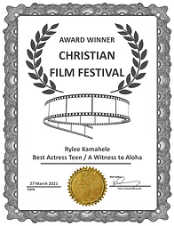 A Witness to Aloha Best Actress   Teen A